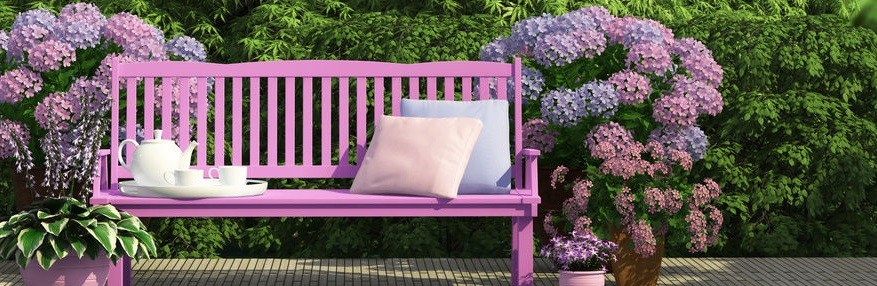 02-The Garden Benches Enhance the Beauty of Any Garden